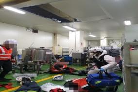 해태제과 천안공장 2층 높이서 4명 추락